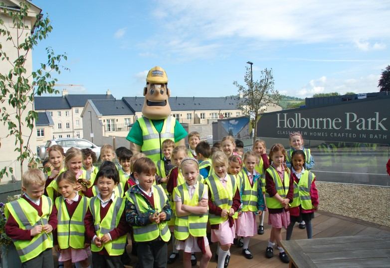 Building for the future – Bath school pupils visit new Holburne Park development